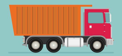 Flat illustration of truck vector
