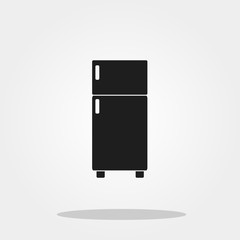 Refrigenerator cute icon in trendy flat style isolated on color background. Kitchenware symbol for your design, logo, UI. Vector illustration, EPS10.