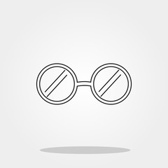 Glasses cute icon in trendy flat style isolated on grey background. School symbol for your design, logo, UI. Vector illustration, EPS10.