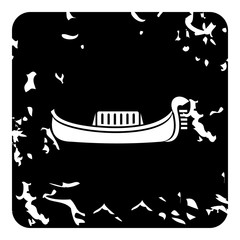 Gondola icon. Grunge illustration of gondola vector icon for web