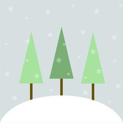 Three trees on hill1