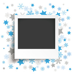Instant Photo Christmas Stars Snowflakes