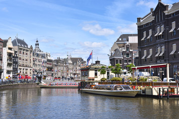 Historic city of Amsterdam, capital of the Netherlands.