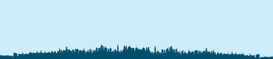 Silhouette city flat illustration.