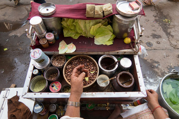 India street food snacks on the market
