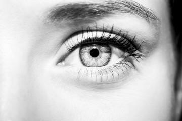 Beautiful insightful look woman's eye