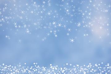 christmas bokeh snowflake background