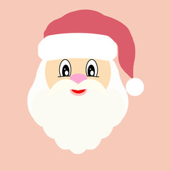 Flat picture of Santa in vintage colors