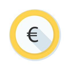 Euro danger sign illustration