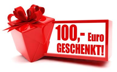 100,- Euro geschenkt!