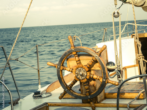 Sea Voyage Of The Sailing Vessel Travel At