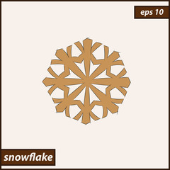Vector illustration. Illustration shows a Snowflake
