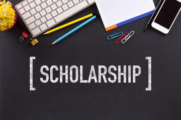 SCHOLARSHIP CONCEPT ON BLACKBOARD