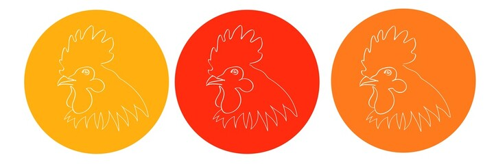 Рисунок петуха. Символ года 2017 по китайскому календарю
