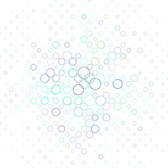 Multicolor abstract circle pattern background