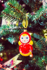 Russian Christmas matryoshka doll