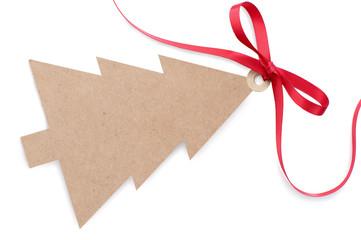Fototapete - Christmas gift label