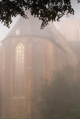 Foggy morning around the church