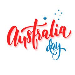 Happy Australia Day poster Australian flag vector greeting card