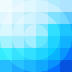 Abstract colorful mosaic background - Vector. Pixel Pattern with circle in middle