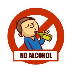 Prohibition Sign No Alcohol Sticker
