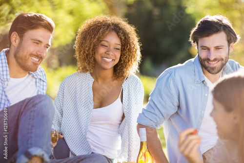 """Friends interacting with each other"" Stock photo and ..."