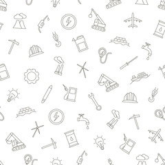 industry icons set pattern