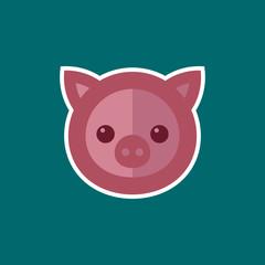 Simple Pig Icon