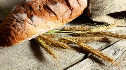 bread and ears are on the old table