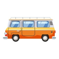 Mini bus icon. Cartoon illustration of mini bus vector icon for web design