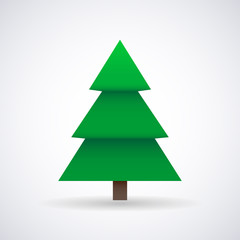 Christmas tree and New Year, stylish vector illustration, EPS10