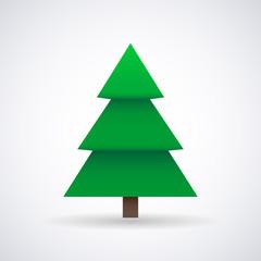 Christmas tree and New Year, stylish vector illustration, EPS10