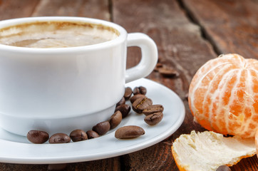 Coffee with tangerine