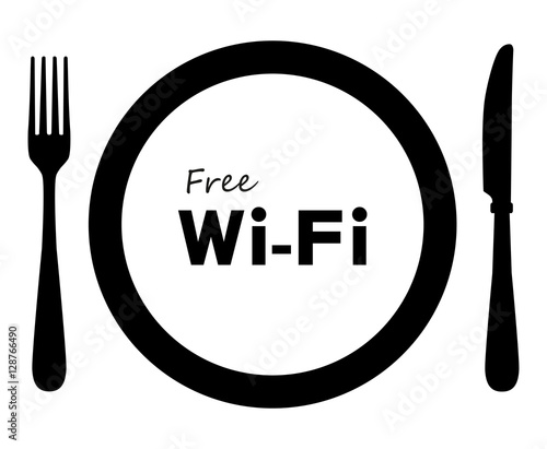 quotfree wifi zone in restaurantquot stock image and royalty