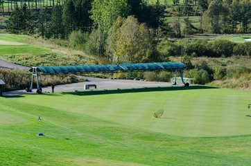 Driving range at hills golf club