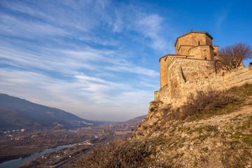 Orthodox monastery Jvari. 5-6 century building. Georgia, Mtskhet
