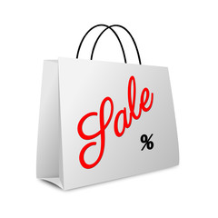 Shopping bag - winter sales text