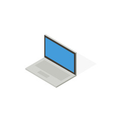 Isometric design. Laptop on a white background. Vector illustration