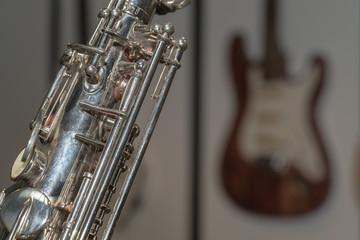 part of shiny  saxophone
