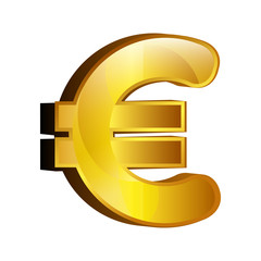 euro money gold icon vector illustration design