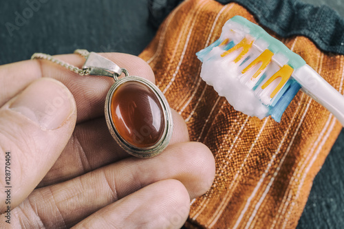how to clean silver rings with baking soda