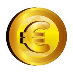 euro money gold icon vector illustration design