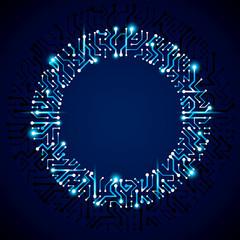 Futuristic cybernetic scheme, vector motherboard blue illustrati