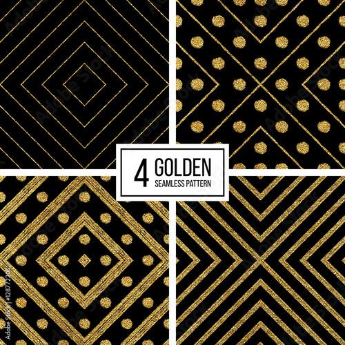 Black And Gold Glitter Stripes