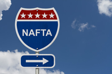 North American Free Trade Agreement sign
