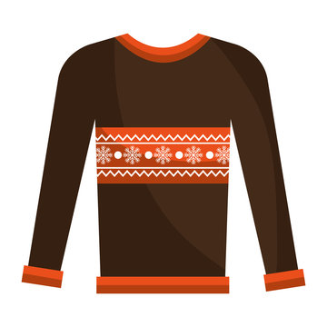 winter sweater clothes isolated icon vector illustration design