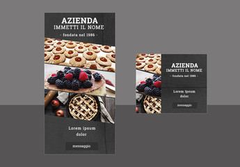 Layout moderno per banner Web