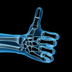 Like Thumbs Up Symbol in X-ray 3D