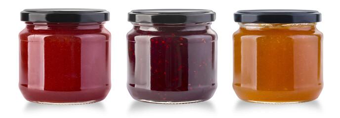 Jam jar isolated