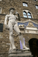 Statue of a naked man, Florence, Italy